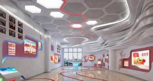 高科技党建展厅,更好地传递党建文化